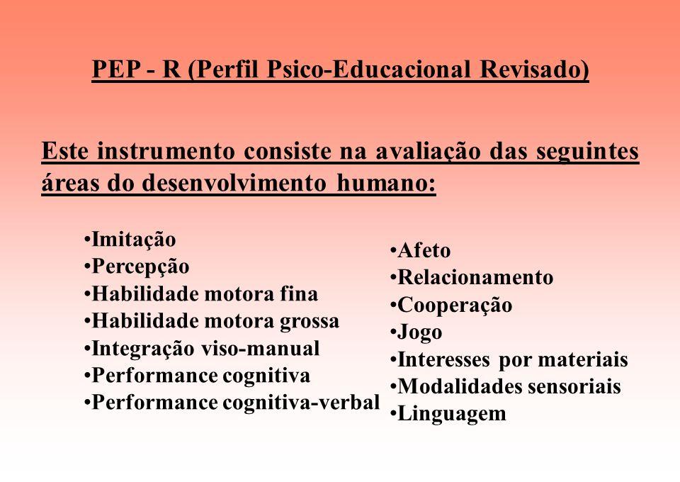 PEP - R (Perfil Psico-Educacional Revisado)