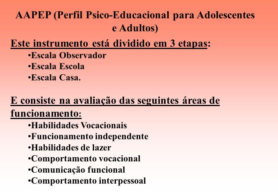 AAPEP (Perfil Psico-Educacional para Adolescentes e Adultos)