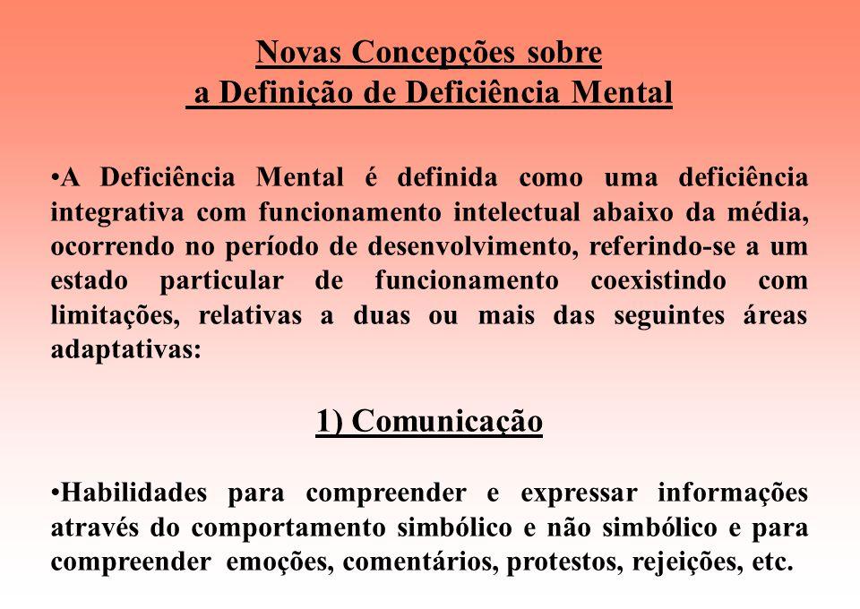 Novas Concepções sobre a Definição de Deficiência Mental