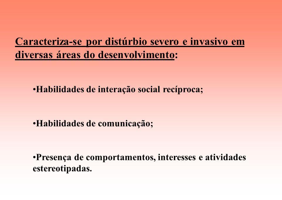 Caracteriza-se por distúrbio severo e invasivo em diversas áreas do desenvolvimento: