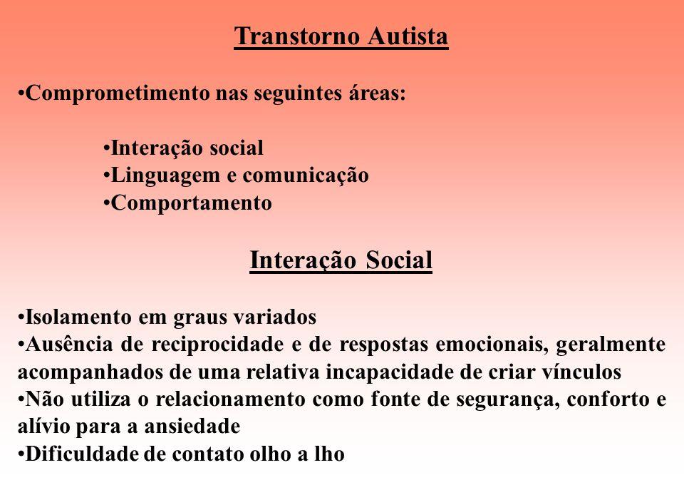 Transtorno Autista Interação Social