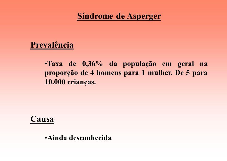 Síndrome de Asperger Prevalência Causa