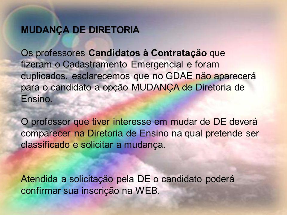 MUDANÇA DE DIRETORIA