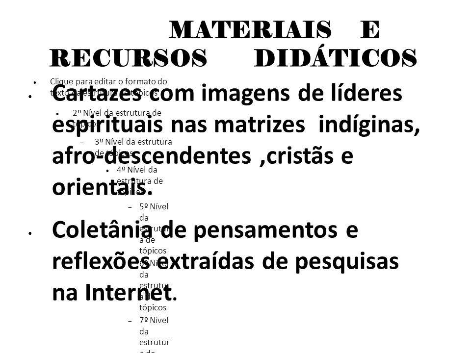 MATERIAIS E RECURSOS DIDÁTICOS