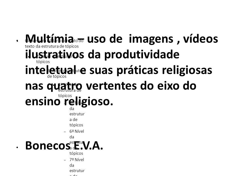 Multímia – uso de imagens , vídeos ilustrativos da produtividade inteletual e suas práticas religiosas nas quatro vertentes do eixo do ensino religioso.