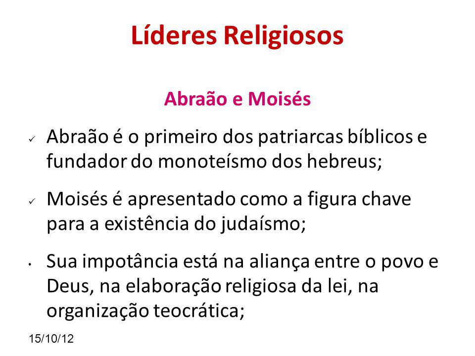 Líderes Religiosos Abraão e Moisés