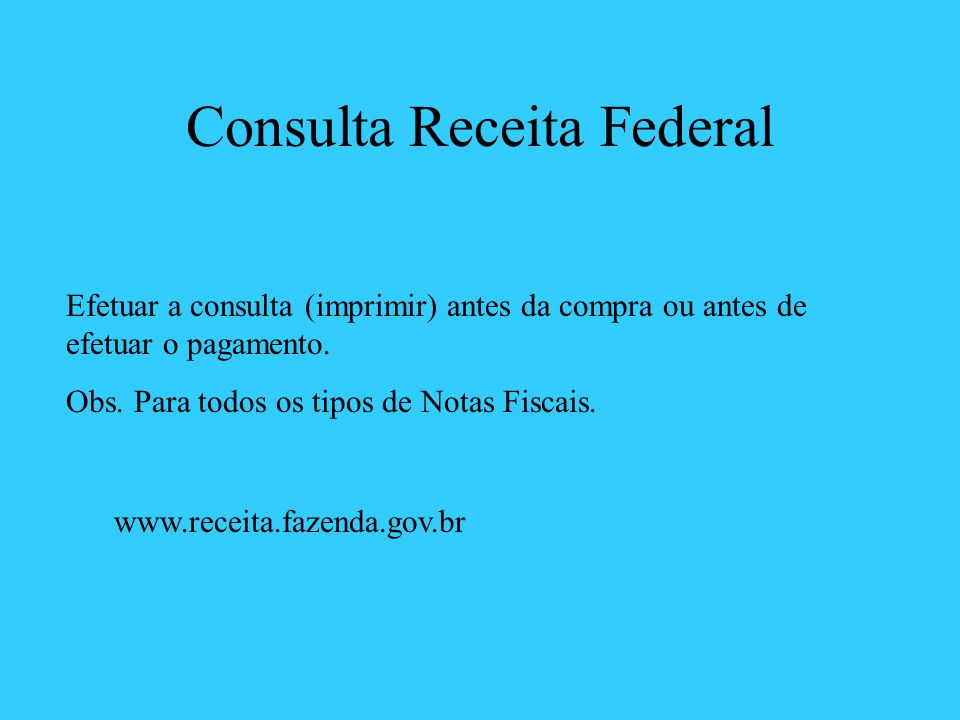 Consulta Receita Federal