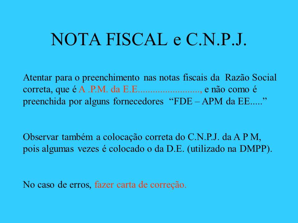 NOTA FISCAL e C.N.P.J.