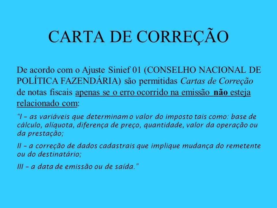 CARTA DE CORREÇÃO
