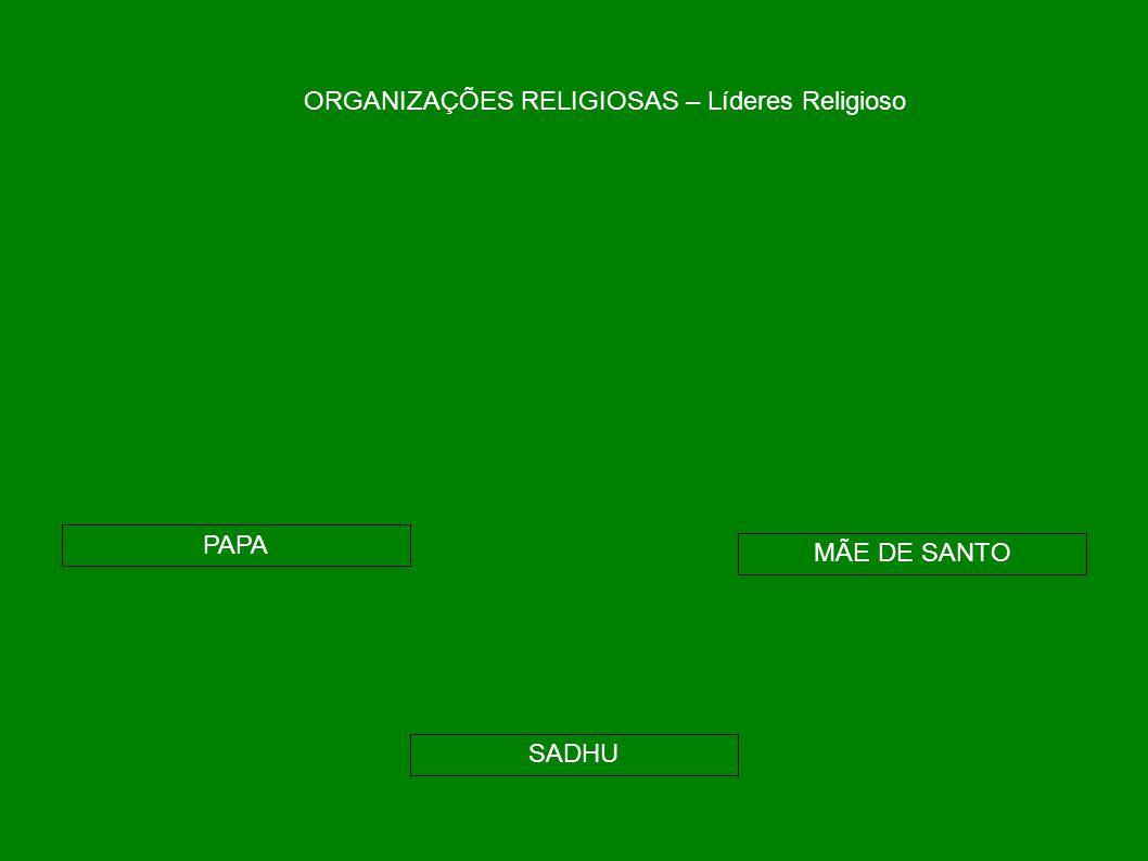 ORGANIZAÇÕES RELIGIOSAS – Líderes Religioso