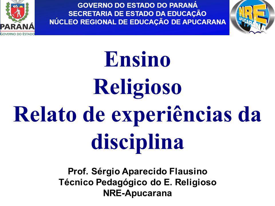 Ensino Religioso Relato de experiências da disciplina