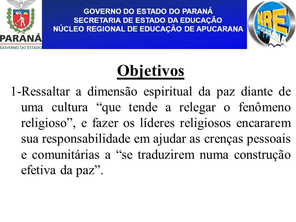 GOVERNO DO ESTADO DO PARANÁ SECRETARIA DE ESTADO DA EDUCAÇÃO NÚCLEO REGIONAL DE EDUCAÇÃO DE APUCARANA
