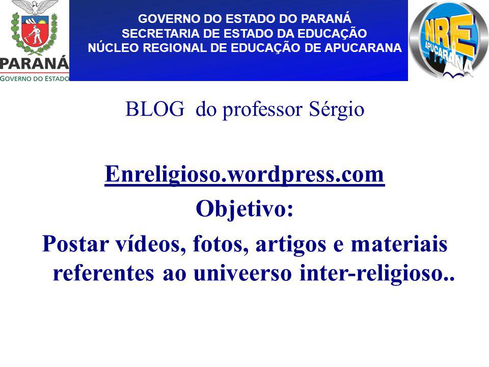 BLOG do professor Sérgio