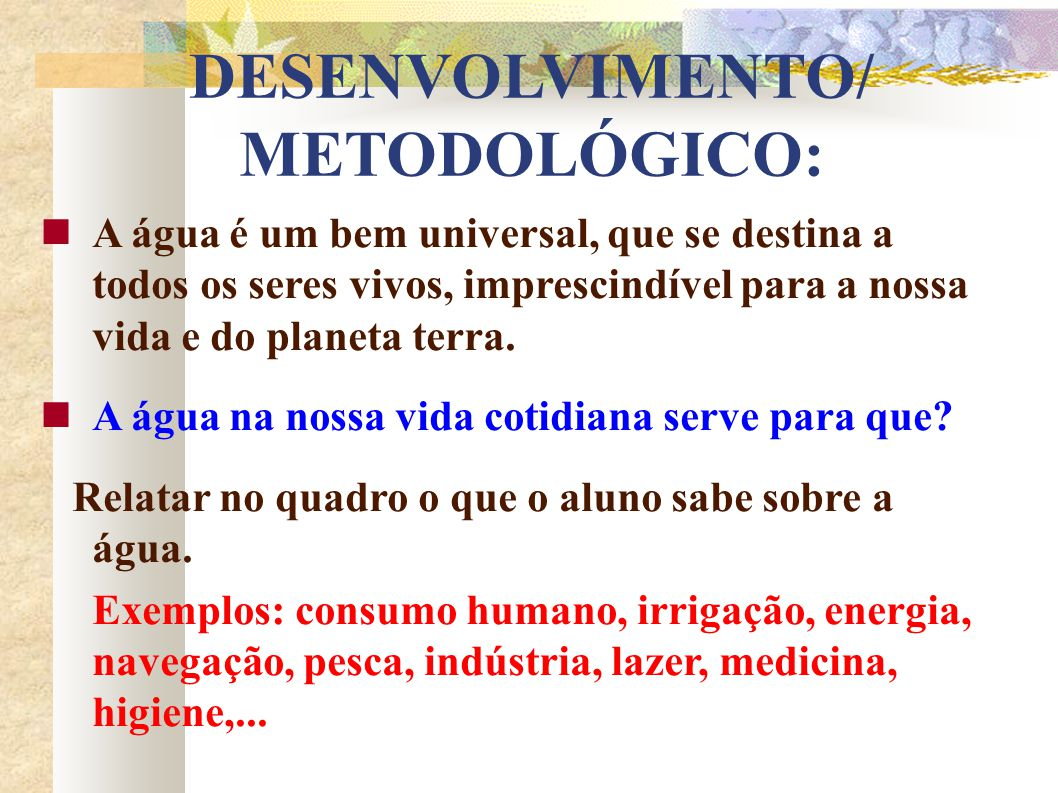 DESENVOLVIMENTO/ METODOLÓGICO: