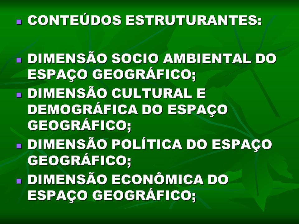 CONTEÚDOS ESTRUTURANTES: