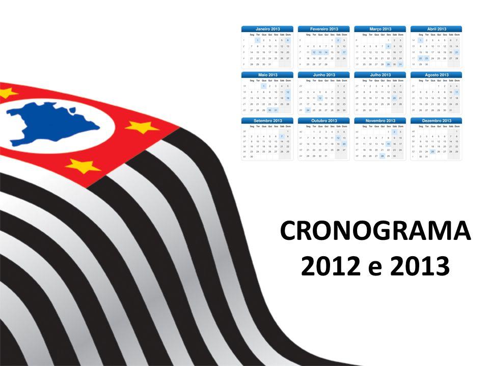 CRONOGRAMA 2012 e 2013
