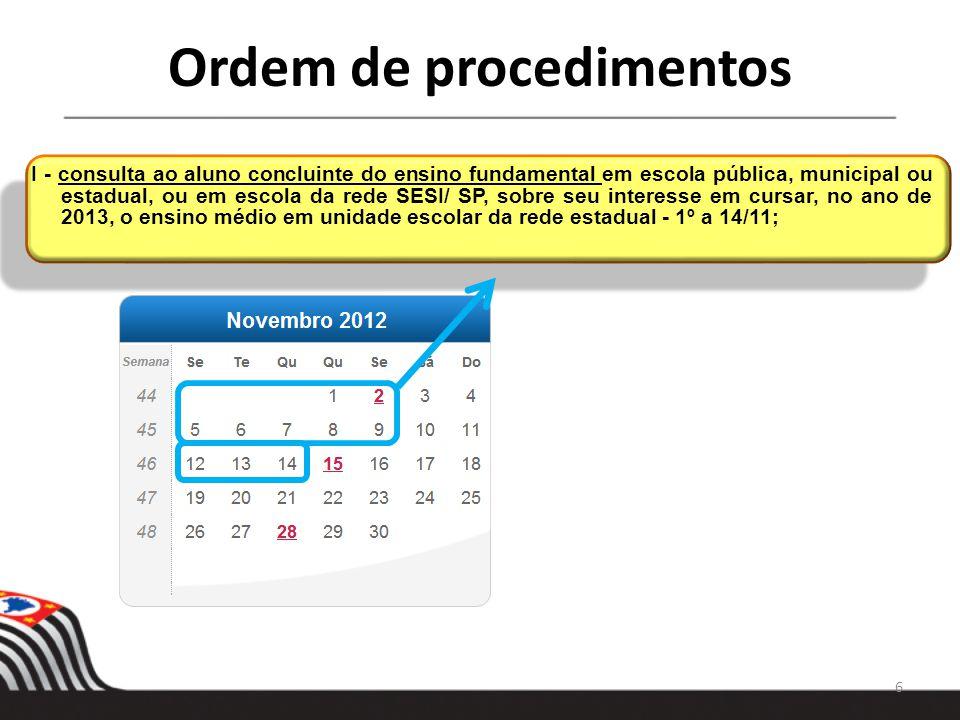 Ordem de procedimentos