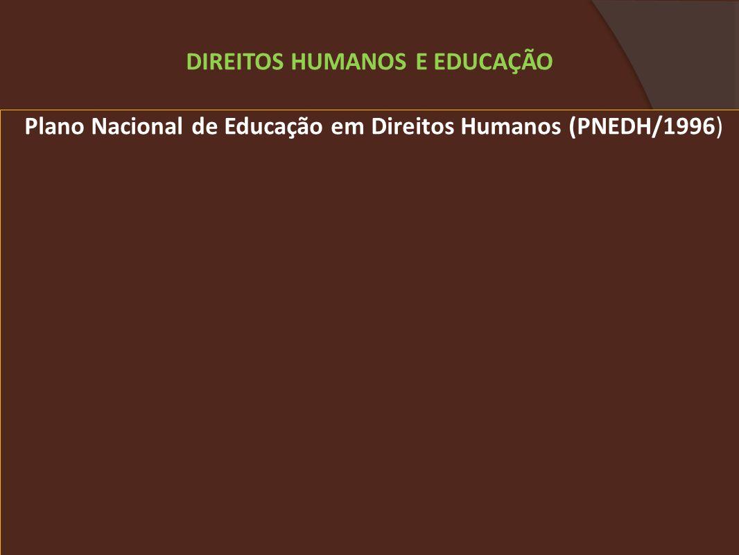 DIREITOS HUMANOS E EDUCAÇÃO