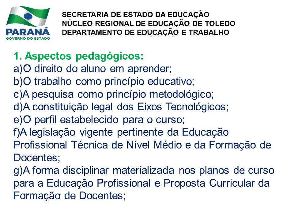 1. Aspectos pedagógicos: