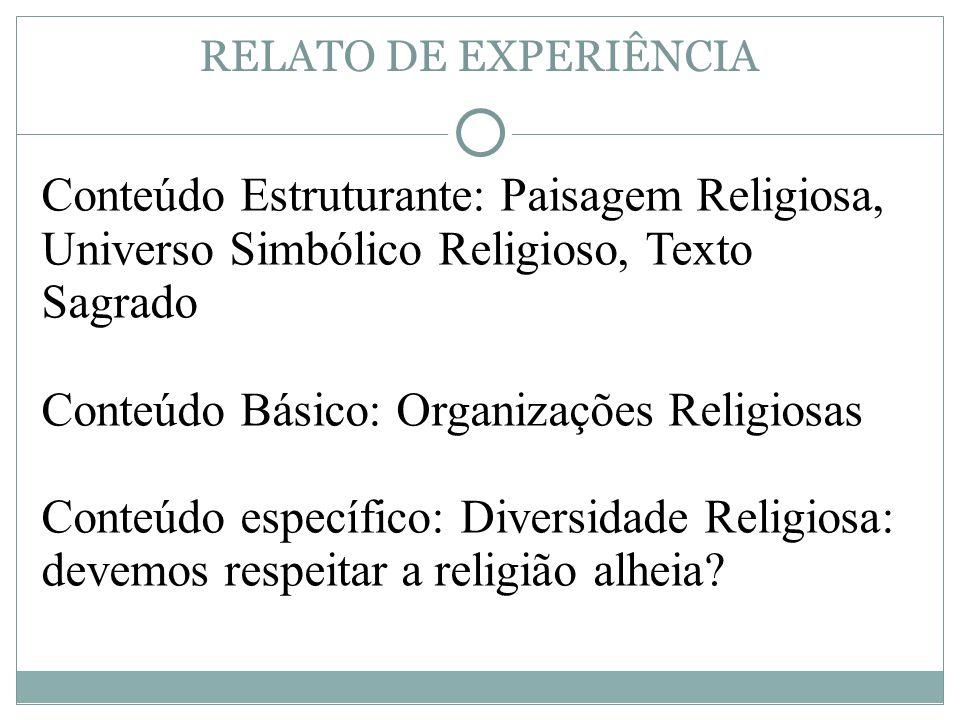 Conteúdo Básico: Organizações Religiosas