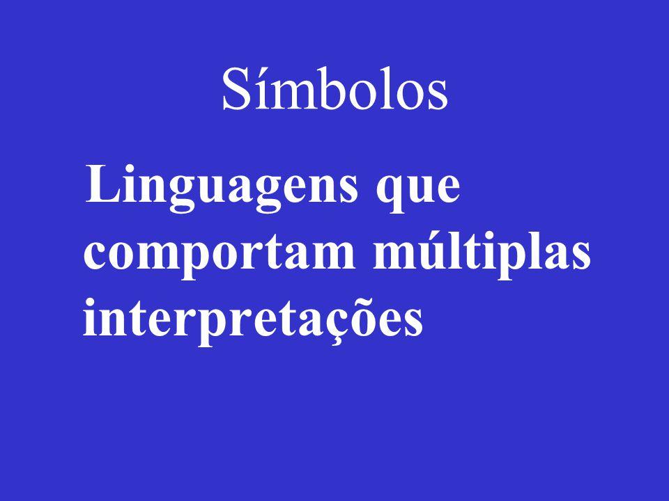 Símbolos Linguagens que comportam múltiplas interpretações