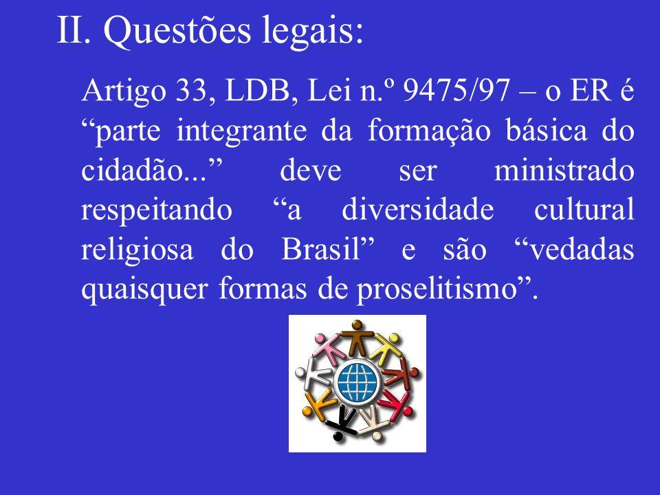 II. Questões legais: