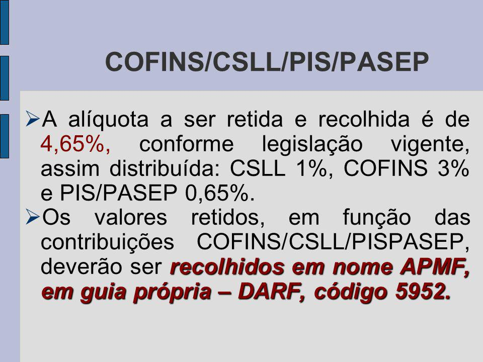 COFINS/CSLL/PIS/PASEP