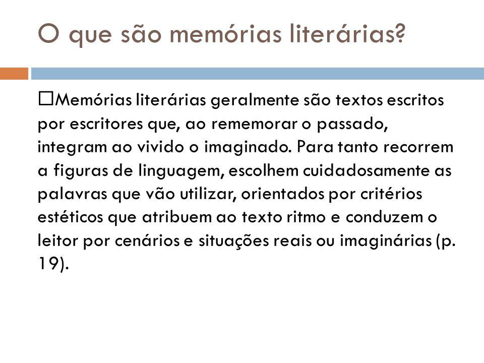 O que são memórias literárias