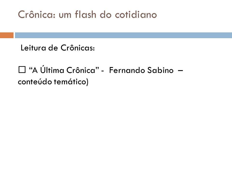Crônica: um flash do cotidiano
