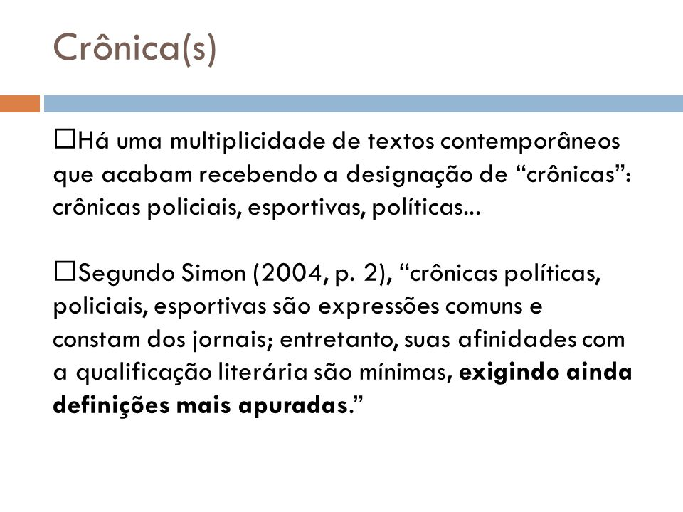 Crônica(s)