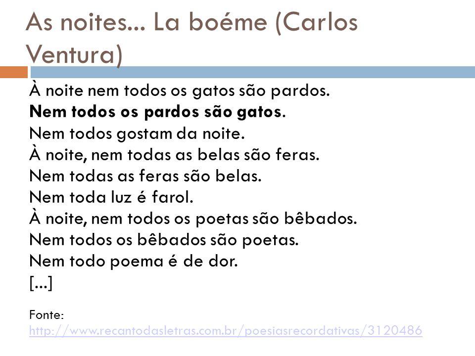 As noites... La boéme (Carlos Ventura)