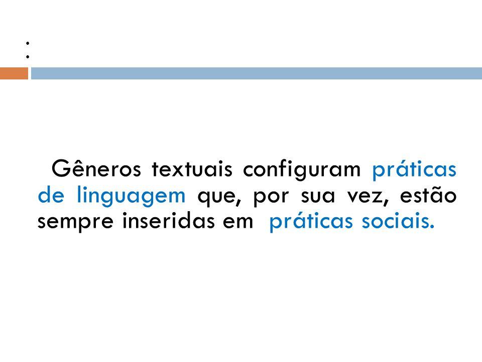 Práticas sociais e Práticas de linguagem.