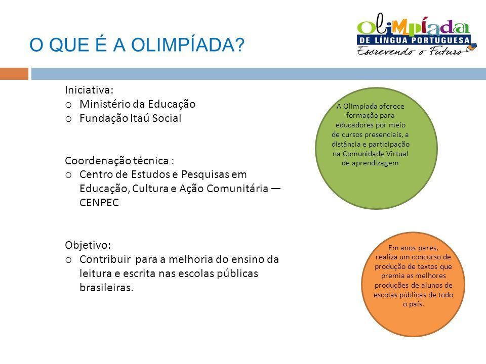 O QUE É A OLIMPÍADA Iniciativa: Ministério da Educação