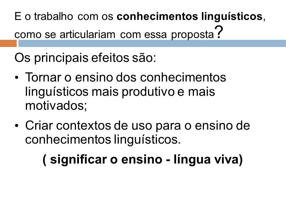 ( significar o ensino - língua viva)
