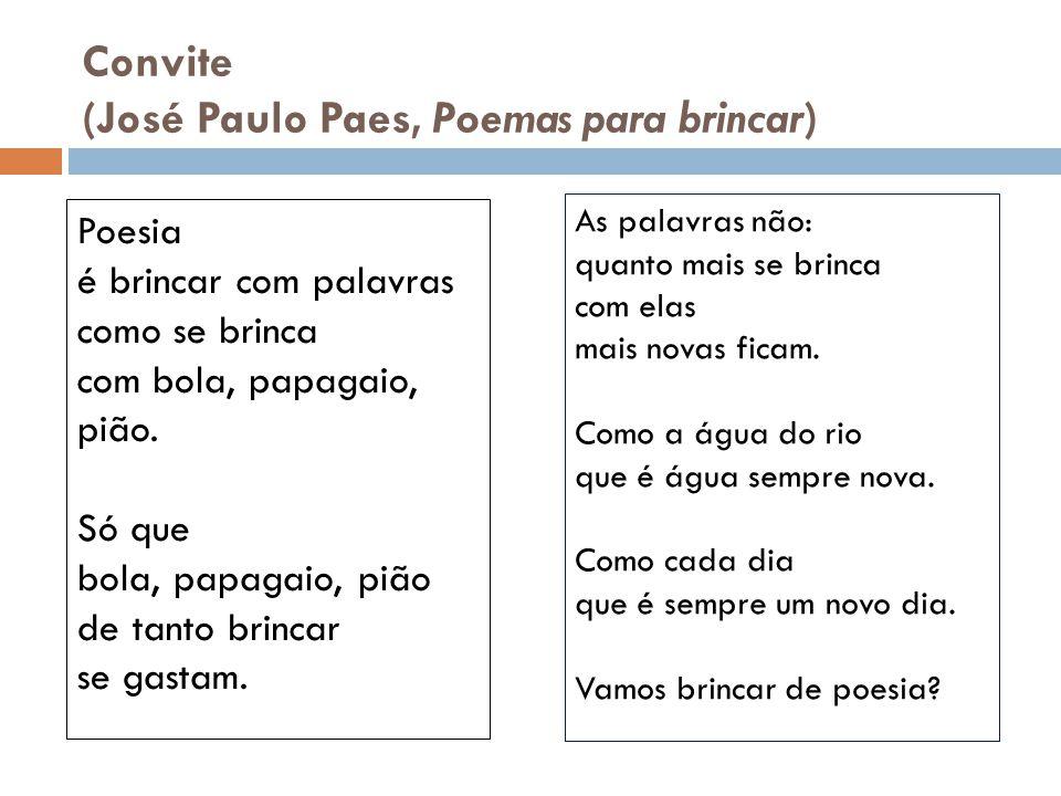 (José Paulo Paes, Poemas para brincar)