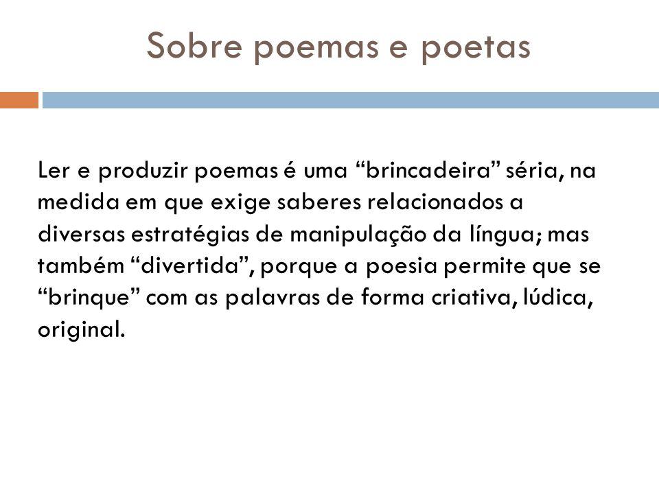 Sobre poemas e poetas