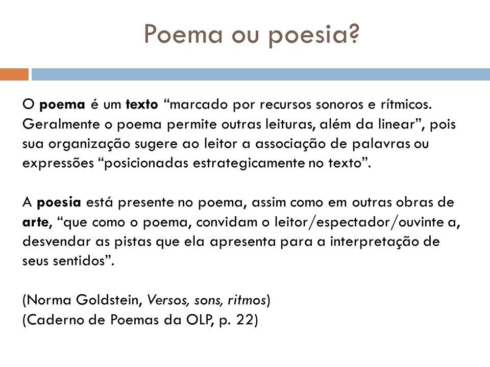 Poema ou poesia