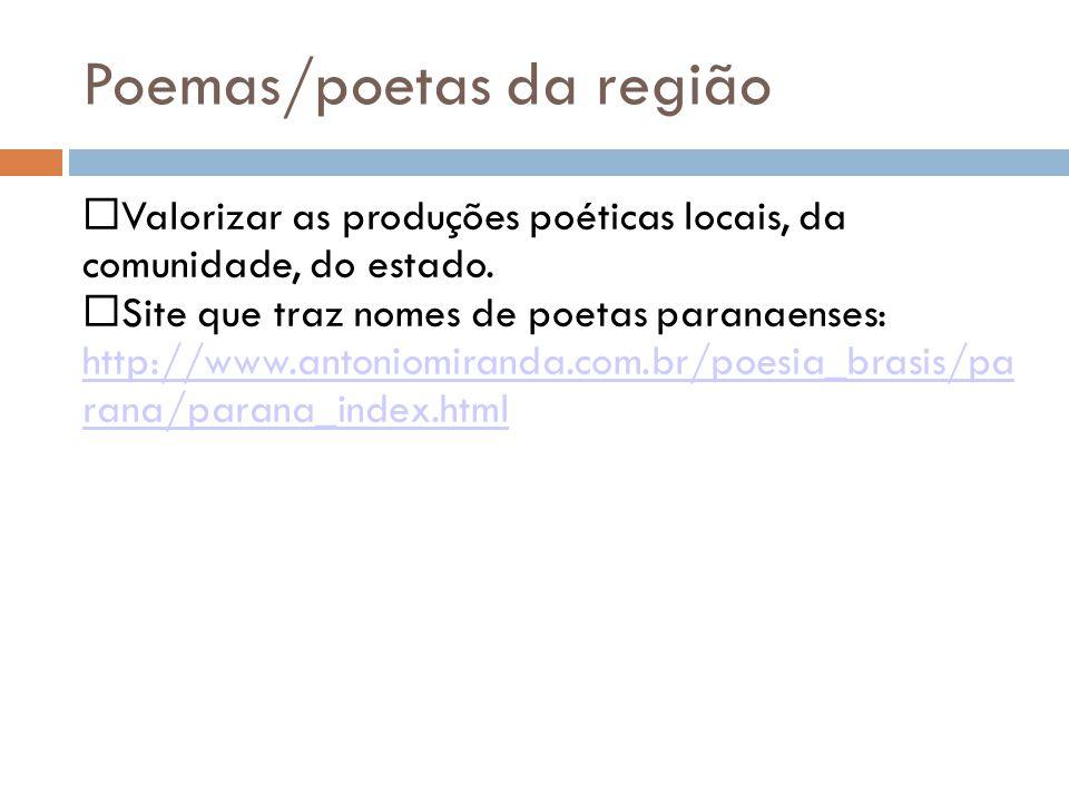 Poemas/poetas da região