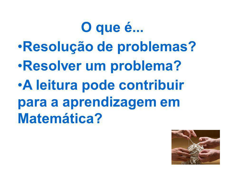 O que é... Resolução de problemas. Resolver um problema.