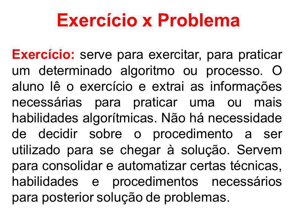 Exercício x Problema