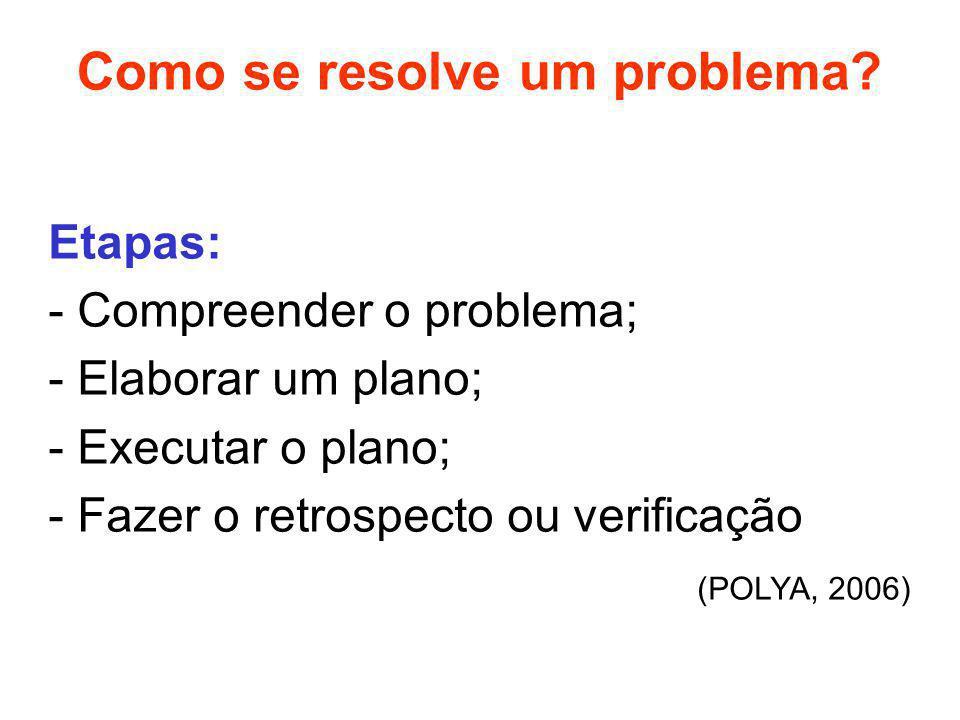 Como se resolve um problema