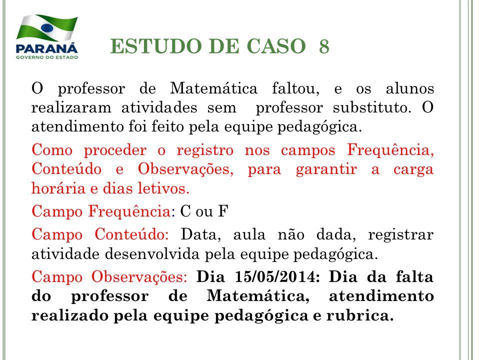 ESTUDO DE CASO 8