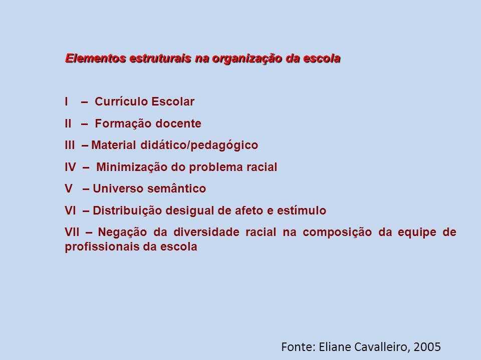 Fonte: Eliane Cavalleiro, 2005