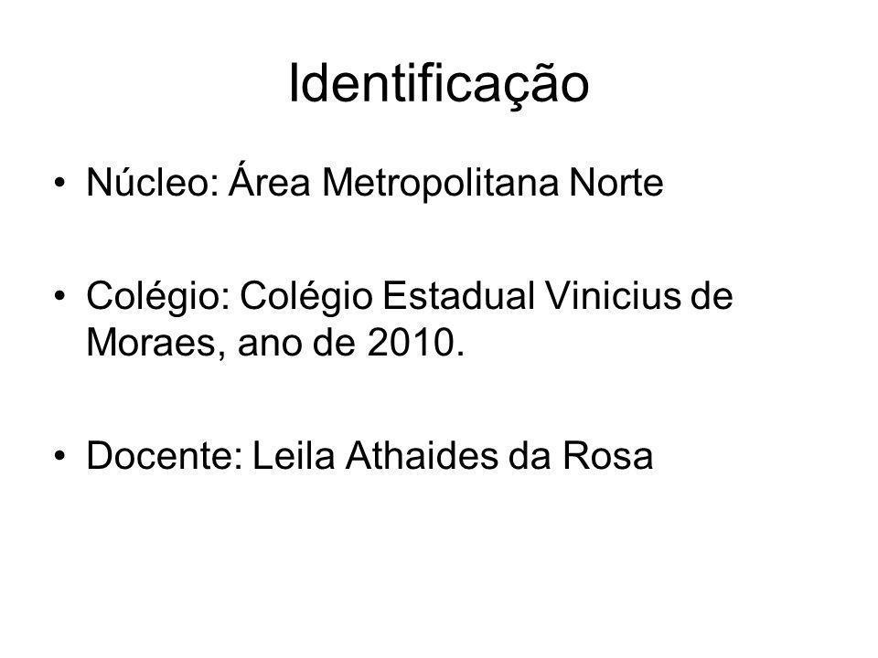 Identificação Núcleo: Área Metropolitana Norte