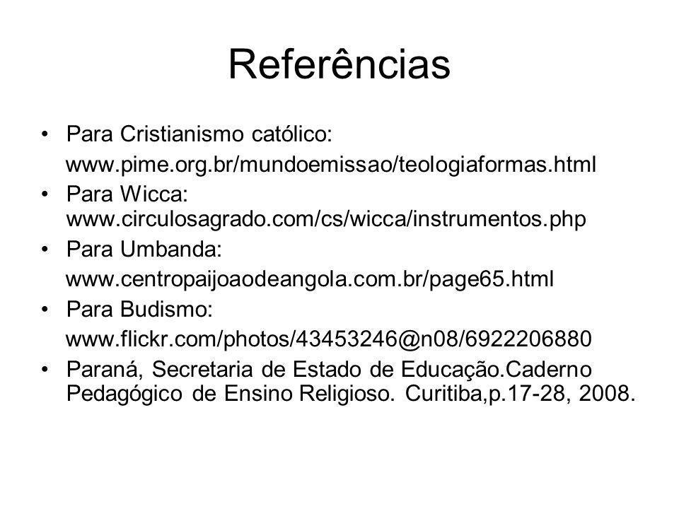 Referências Para Cristianismo católico: