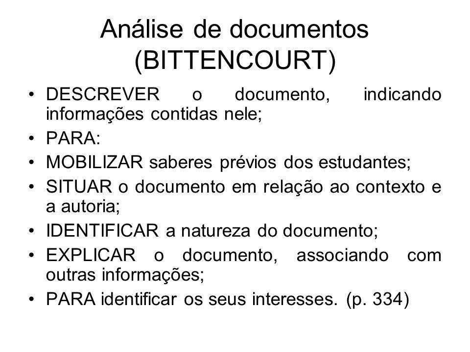 Análise de documentos (BITTENCOURT)