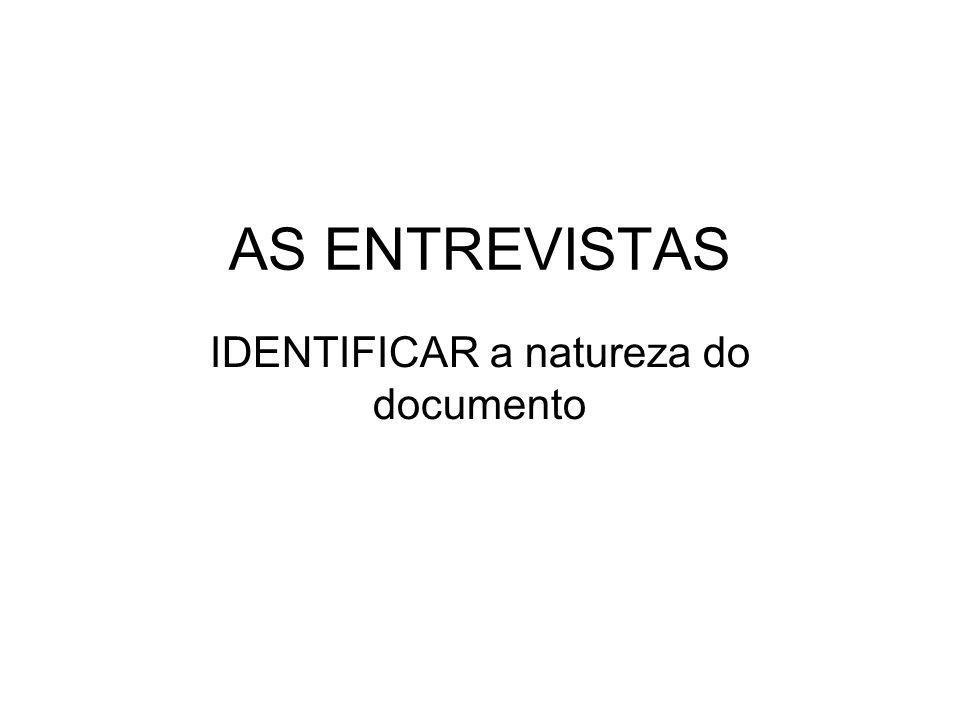 IDENTIFICAR a natureza do documento