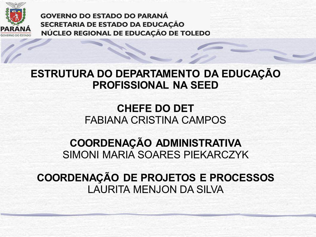 ESTRUTURA DO DEPARTAMENTO DA EDUCAÇÃO PROFISSIONAL NA SEED