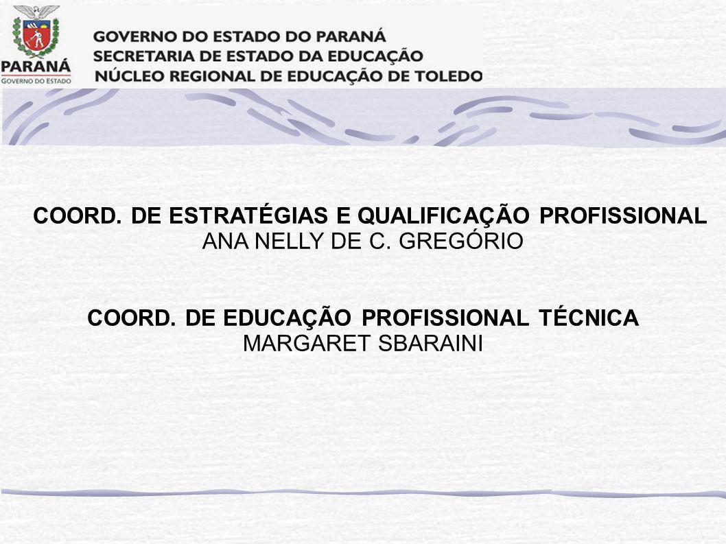 COORD. DE EDUCAÇÃO PROFISSIONAL TÉCNICA