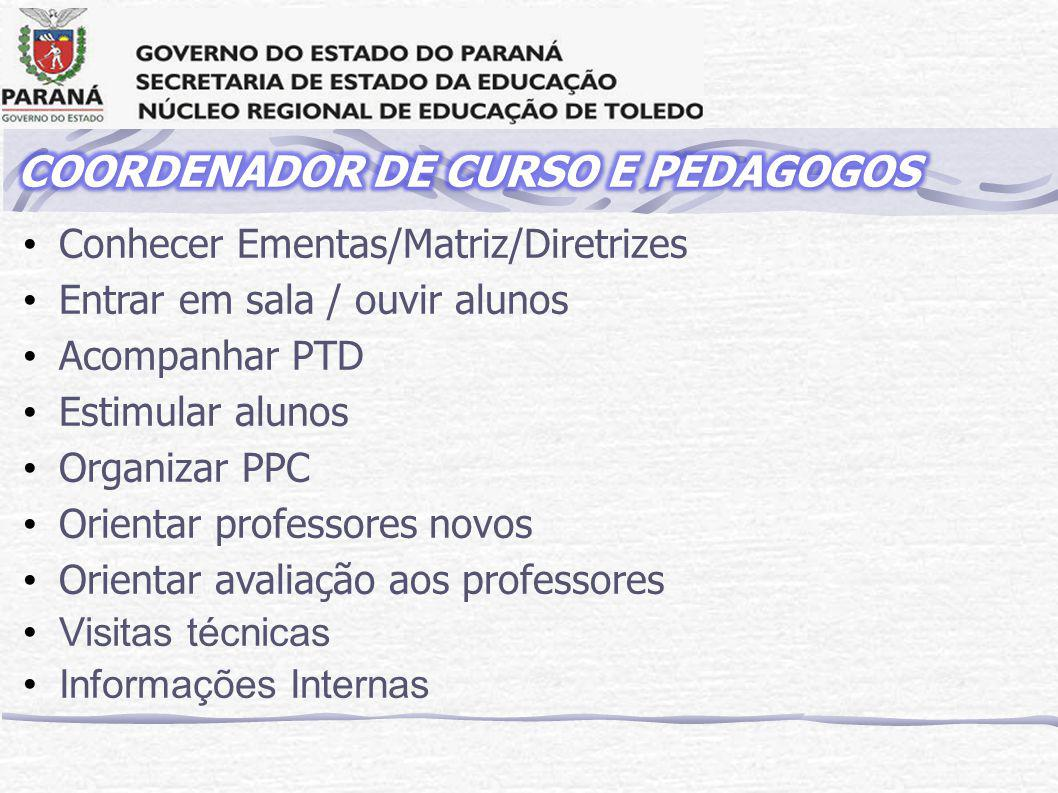 COORDENADOR DE CURSO E PEDAGOGOS